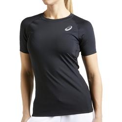 tekstylia Damskie T-shirty z krótkim rękawem Asics Baselayer SS Top noir