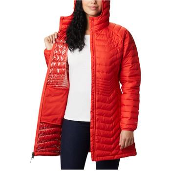 tekstylia Damskie Bluzy Columbia Powder Lite Mid Jacket Pomarańczowy