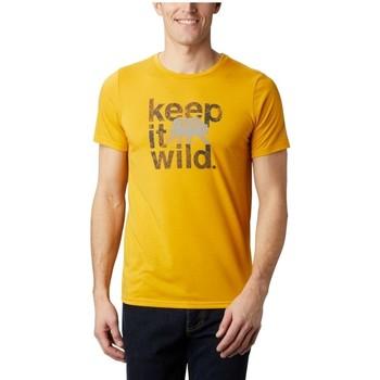 tekstylia Męskie T-shirty z krótkim rękawem Columbia Terra Vale II SS Tee Żółty