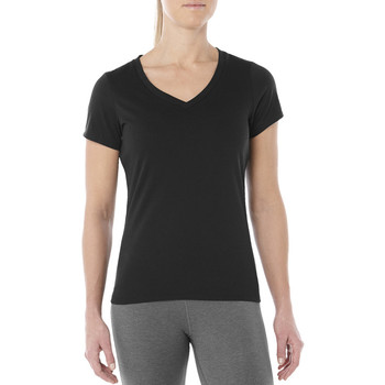 tekstylia Damskie T-shirty z krótkim rękawem Asics Esnt SS Top Hex Tee noir