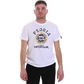 tekstylia Męskie T-shirty z krótkim rękawem Caterpillar 35CC301 Biały