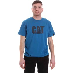 tekstylia Męskie T-shirty z krótkim rękawem Caterpillar 35CC2510150 Niebieski