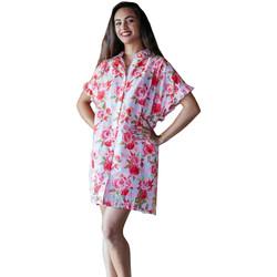 tekstylia Damskie Pareo Isla Bonita By Sigris Poncho Shirt Rojo