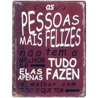 Dom Obrazy Signes Grimalt Tabliczka Ścienna Szczęśliwych Ludzi Rojo
