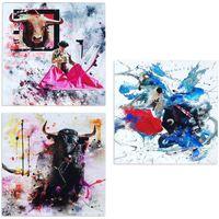 Dom Obrazy Signes Grimalt Plate 3 Września Jednostek Multicolor