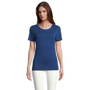 tekstylia Damskie T-shirty z krótkim rękawem Sols LUCAS WOME Azul oscuro