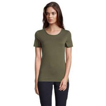 tekstylia Damskie T-shirty z krótkim rękawem Sols LUCAS WOME Kaki oscuro