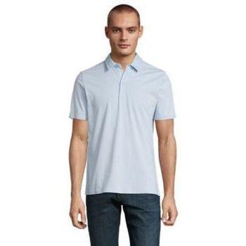 tekstylia Męskie Koszulki polo z krótkim rękawem Sols OSCAR MEN Azul claro