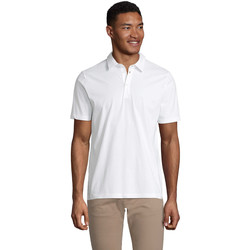 tekstylia Męskie Koszulki polo z krótkim rękawem Sols OSCAR MEN Blanco ?ptimo
