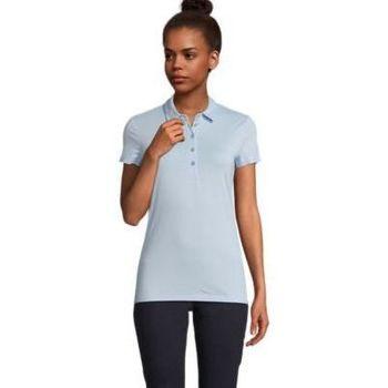 tekstylia Damskie Koszulki polo z krótkim rękawem Sols OSCAR WOME Azul claro