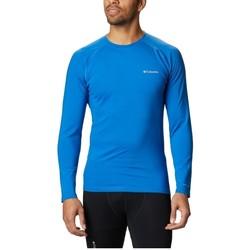 tekstylia Męskie T-shirty z długim rękawem Columbia Omni Heat 3D Knit Crew II Niebieski