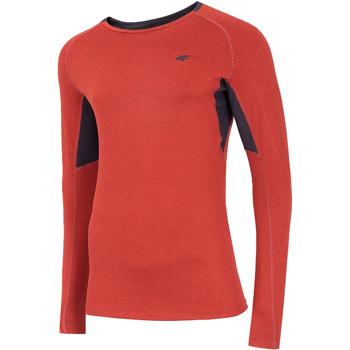 tekstylia Męskie T-shirty z długim rękawem 4F Men's Functional Longsleeve Czerwony
