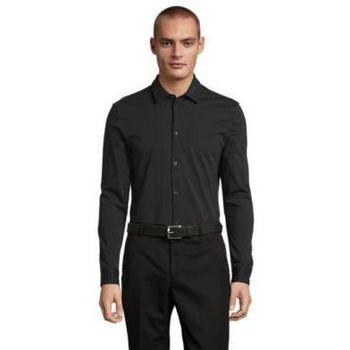 tekstylia Męskie Koszule z długim rękawem Sols BALTHAZAR MEN Negro profundo