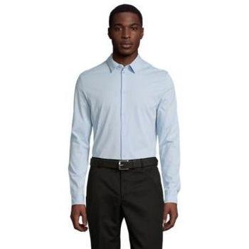 tekstylia Męskie Koszule z długim rękawem Sols BALTHAZAR MEN Azul claro