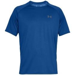 tekstylia Męskie T-shirty z krótkim rękawem Under Armour Tech 2.0 Short Sleeve Niebieski