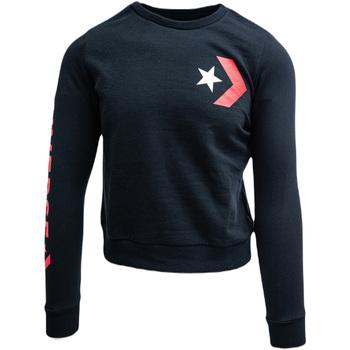 tekstylia Damskie Bluzy dresowe Converse cu imprimeu logo Czarny