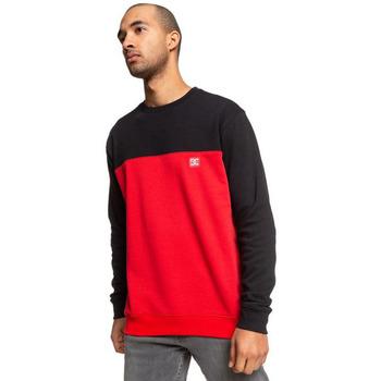 tekstylia Męskie Bluzy dresowe DC Shoes Rebel Crew Block 3 Red/black Czerwony