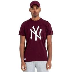 tekstylia Męskie T-shirty z krótkim rękawem New-Era Team Logo New York Yankees Brązowy