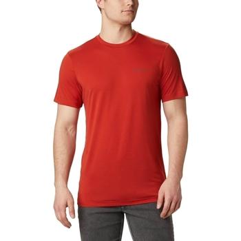 tekstylia Męskie T-shirty z krótkim rękawem Columbia Maxtrail Logo Czerwony