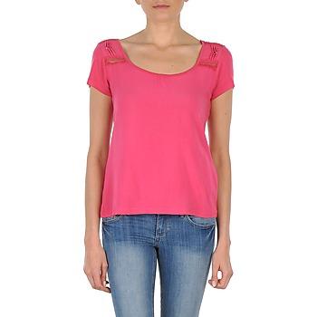 tekstylia Damskie T-shirty z krótkim rękawem DDP NOWI Różowy