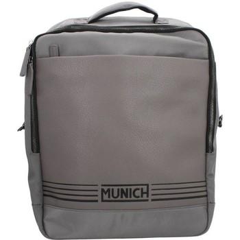 Torby Męskie Plecaki Munich SQUARE CITY GREY Szary