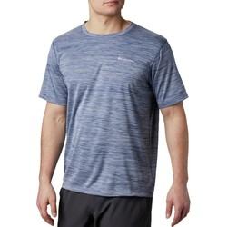 tekstylia Męskie T-shirty z krótkim rękawem Columbia Zero Rules Short Sleeve Shirt Niebieski
