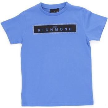 tekstylia Chłopiec T-shirty z krótkim rękawem Richmond Kids RBP21030TS Niebieski