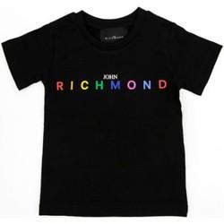 tekstylia Dziewczynka T-shirty z krótkim rękawem Richmond Kids RGP21123TS Czarny