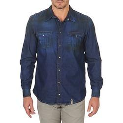 tekstylia Męskie Koszule z długim rękawem Freeman T.Porter CORWEND DENIM Niebieski