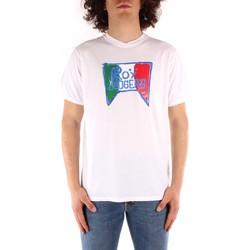 tekstylia Męskie T-shirty z krótkim rękawem Roy Rogers P21RRU513C7480013 Biały