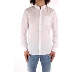 tekstylia Męskie Koszule z długim rękawem Blauer 21SBLUS01223 Biały