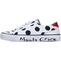 Buty Damskie Trampki niskie Manila Grace S631CP Biały