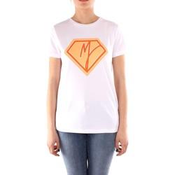 tekstylia Damskie T-shirty z krótkim rękawem Manila Grace T004CU Biały