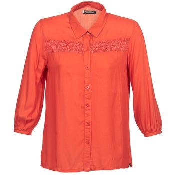 tekstylia Damskie Koszule z długim rękawem Volcom KNOTTY Czerwony