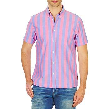tekstylia Męskie Koszule z krótkim rękawem Ben Sherman BEMA00487S Różowy / Niebieski