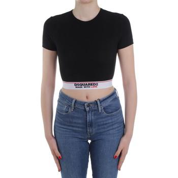 tekstylia Damskie Swetry Dsquared2 Underwear D8M263470 Czarny