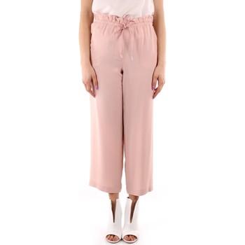 tekstylia Damskie Spodnie z lejącej tkaniny / Alladynki Marella GIADA Różowy
