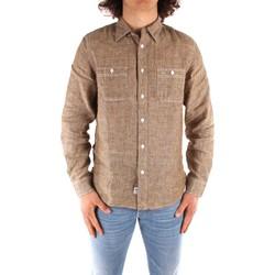 tekstylia Męskie Koszule z długim rękawem Blauer 21SBLUS01221 Brązowy