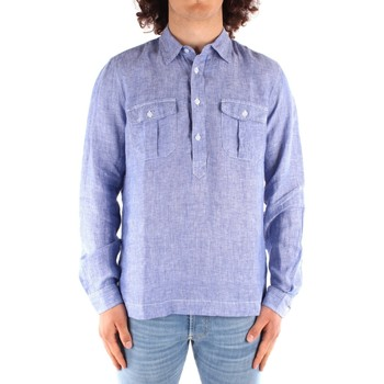 tekstylia Męskie Koszule z długim rękawem Blauer 21SBLUS01216 Niebieski