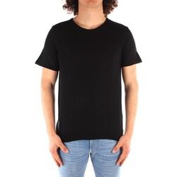 tekstylia Męskie T-shirty z krótkim rękawem Blauer 21SBLUM01319 Czarny