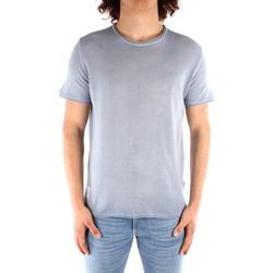 tekstylia Męskie T-shirty z krótkim rękawem Blauer 21SBLUM01319 Niebieski