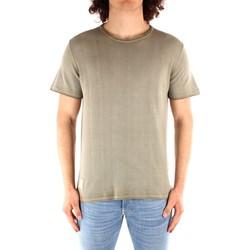 tekstylia Męskie T-shirty z krótkim rękawem Blauer 21SBLUM01319 Zielony