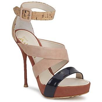 Buty Damskie Sandały John Galliano AN6363 Różowy / MARINE / Beżowy