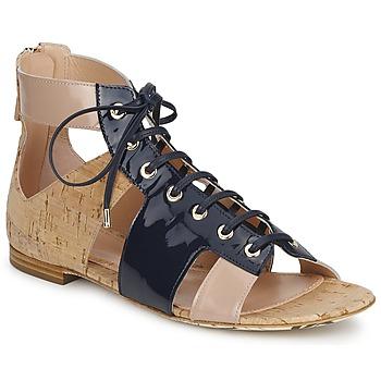Buty Damskie Sandały John Galliano AN6379 Niebieski / Beżowy / Różowy
