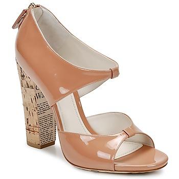 Buty Damskie Sandały John Galliano AN6364 Różowy / Beżowy
