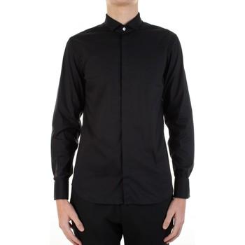tekstylia Męskie Koszule z długim rękawem Manuel Ritz 3030E652-213229 Czarny