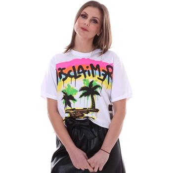 tekstylia Damskie T-shirty z krótkim rękawem Disclaimer 21EDS50632 Biały