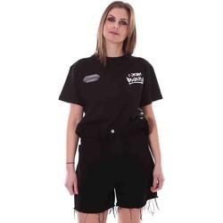 tekstylia Damskie T-shirty z krótkim rękawem Disclaimer 21EDS50642 Czarny