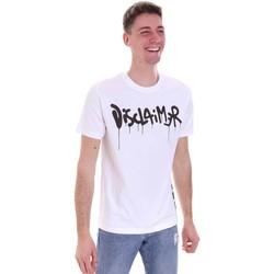 tekstylia Męskie T-shirty z krótkim rękawem Disclaimer 21EDS50565 Biały