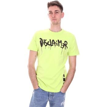 tekstylia Męskie T-shirty z krótkim rękawem Disclaimer 21EDS50565 Zielony